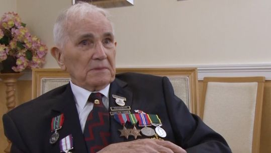 WWII veteran and former Japanese prisoner of war Jack Ransom 070820 CREDIT BFBS