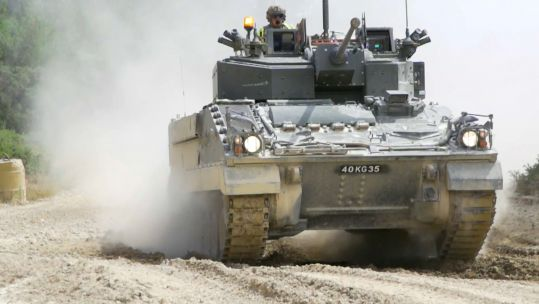 Warrior upgrade at Bovington in Dorset 221119 CREDIT BFBS