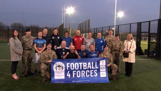 Wigan Athletic Supporting Troops With Football 4 Forces