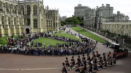 Celebrations for the Royal Baby at Windsor Castle (Picture: MOD).