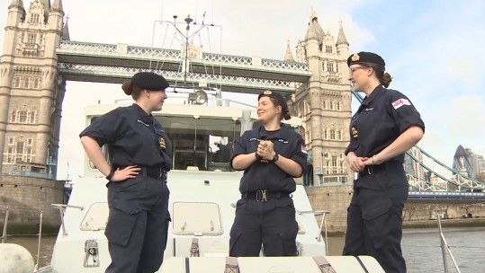 Royal Navy Vessels Travel To London To Mark International Women's Day