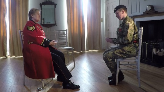 Young Soldiers Swap Thoughts With Chelsea Pensioners
