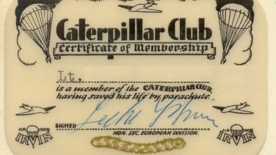Caterpillar Club Certificate