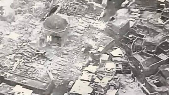 Destruction al Nuir Mosul Iraq
