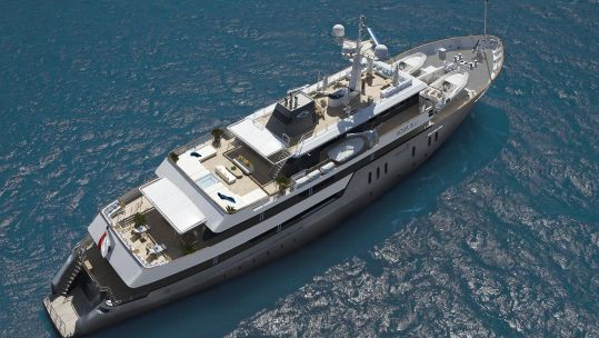 HMS Beagle now a superyacht named Aqua Blu