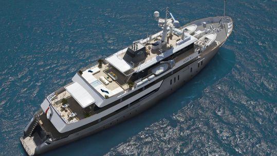 HMS Beagle now a superyacht named Aqua Blu