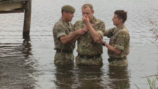 baptism in danish lake credit bfbs 10.10.19