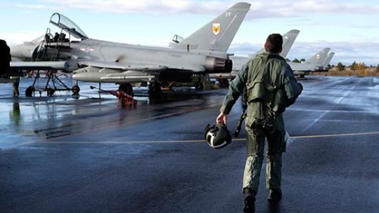 RAF Typhoons at Exercise Trident Juncture