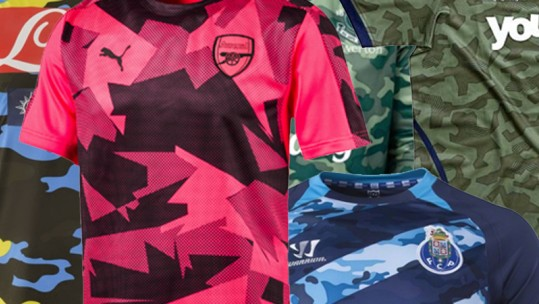 Worst Camo Football Shirt List