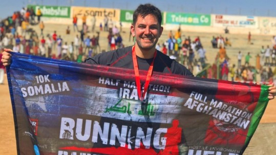 Forces Veteran Runs Dangerously For Charity