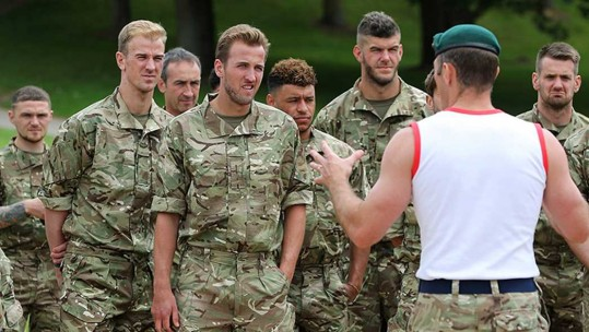 England Royal Marine training