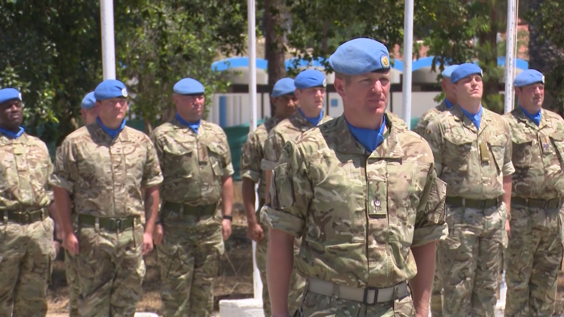 peace keepers in cyprus awarded un medal